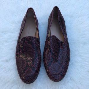Banana Republic Snakeskin Print Loafers Size 10